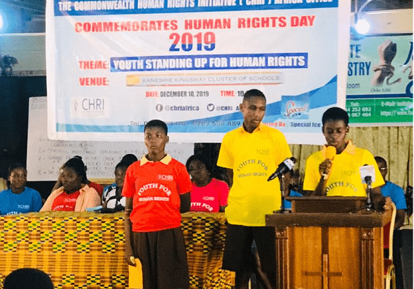 Students in Ghana celebrate Human Rights Day